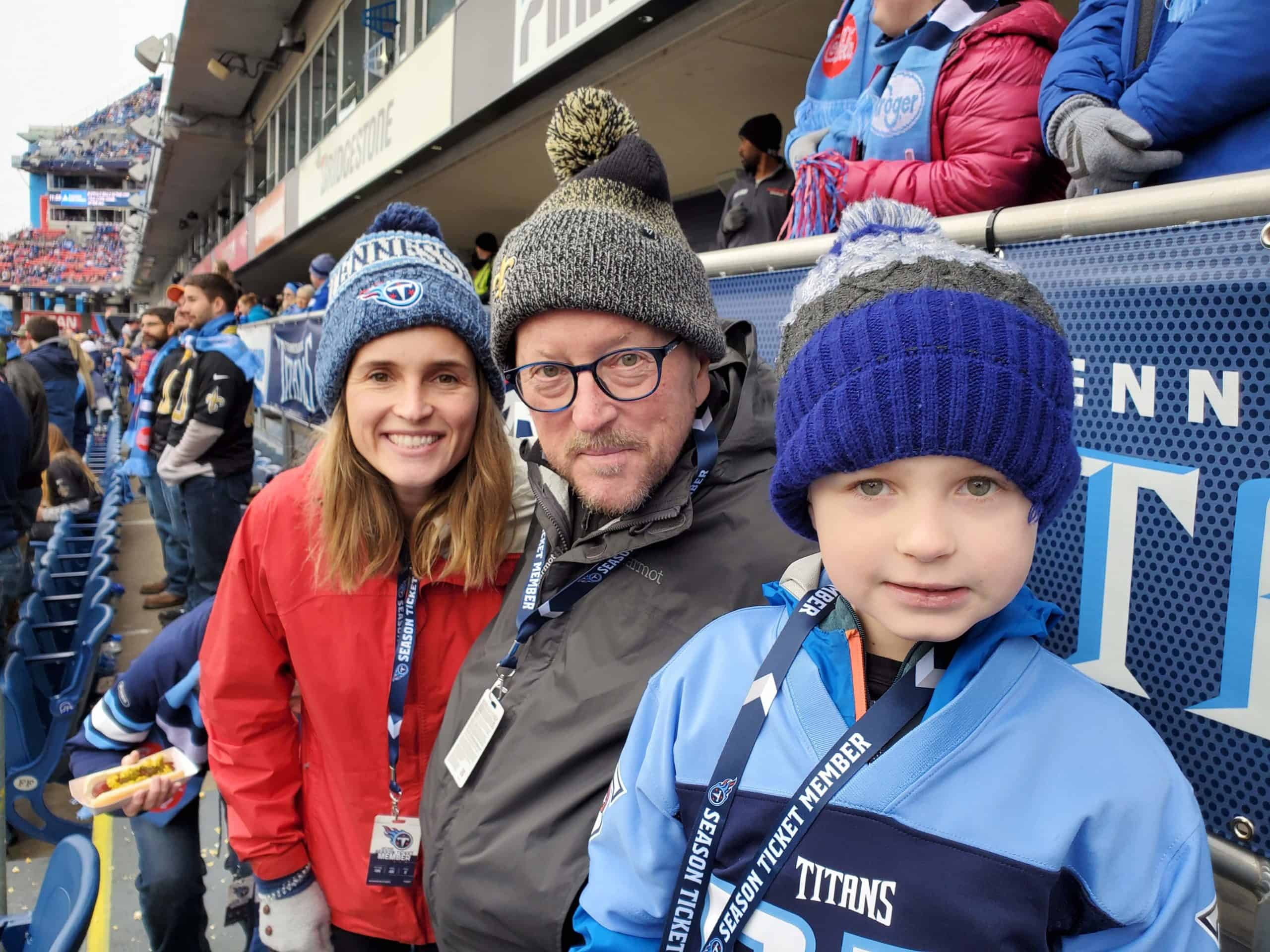 With Crandall and Walker at Saints vs Titans December 2019